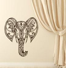 Bohemian Elephant Wall Decal Modern Design Fashion Stickers Vinyl Hidu Ganesh Interior Art Mural Indian God Decor DIYSYY829