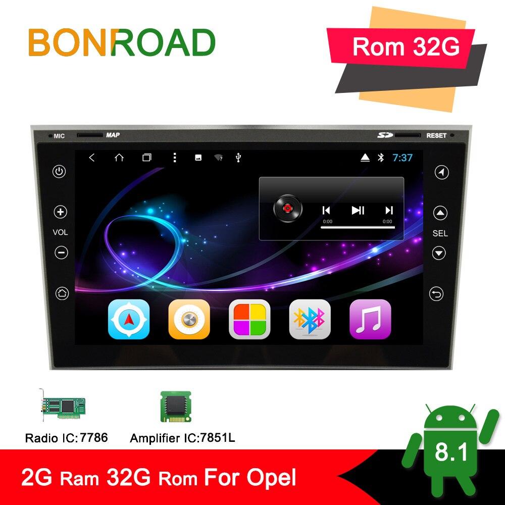 Bonroad 2Din Android Car multimedia player GPS Navigation For Opel Astra Antara Zafira Corsa Radio Video
