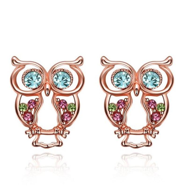 Best seller Women Fashion good looking Owl Earrings Gold Jewelry