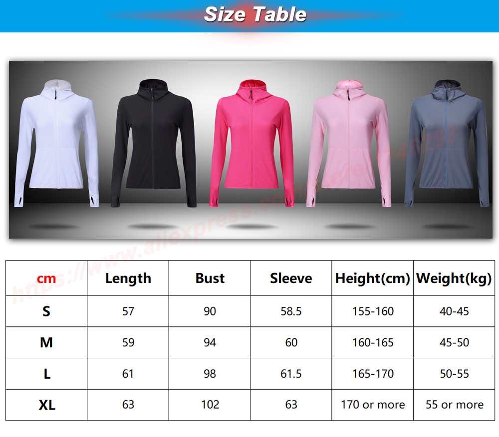 Foto of size Women's quick dry hooded for sport. Women's quick dry coat for sport