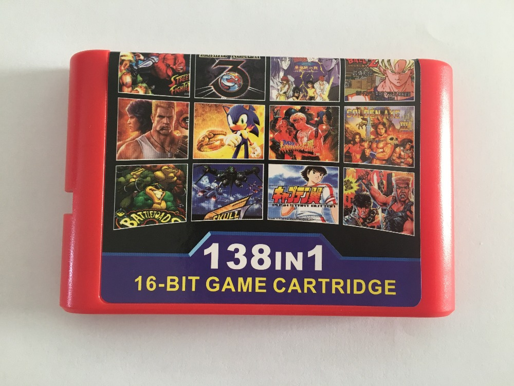 Купить с кэшбэком The Best 138 in 1 Game Cartridge 16 bit MD Game Card For Sega Mega Drive  for original console and Miscellaneous