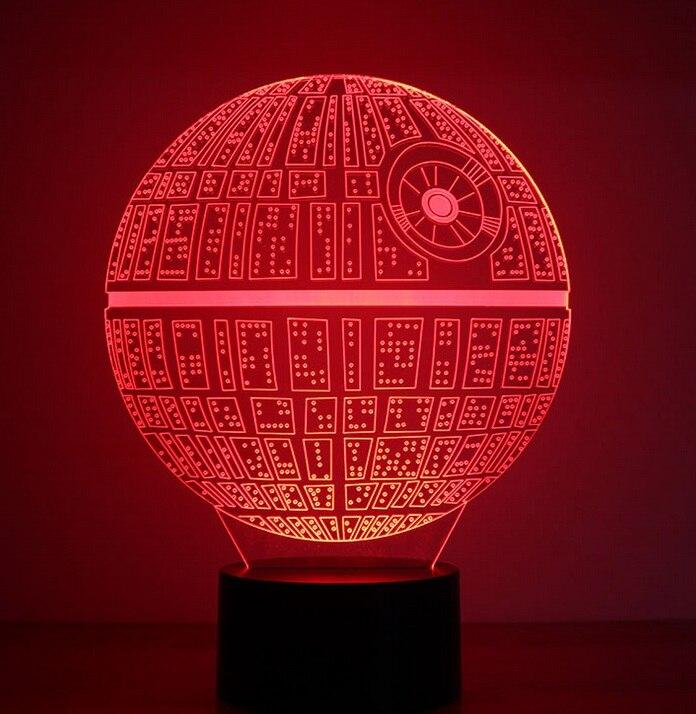 Envío DECOR de 3D star shape Libre wars light death star led 8PnkwO0