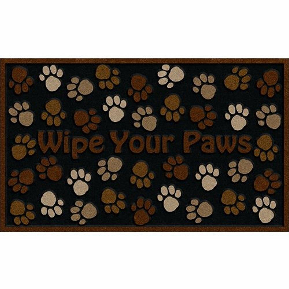 Deluxe Wipe Your Paws Door Mat Brown Living Room Doormat Kitchen