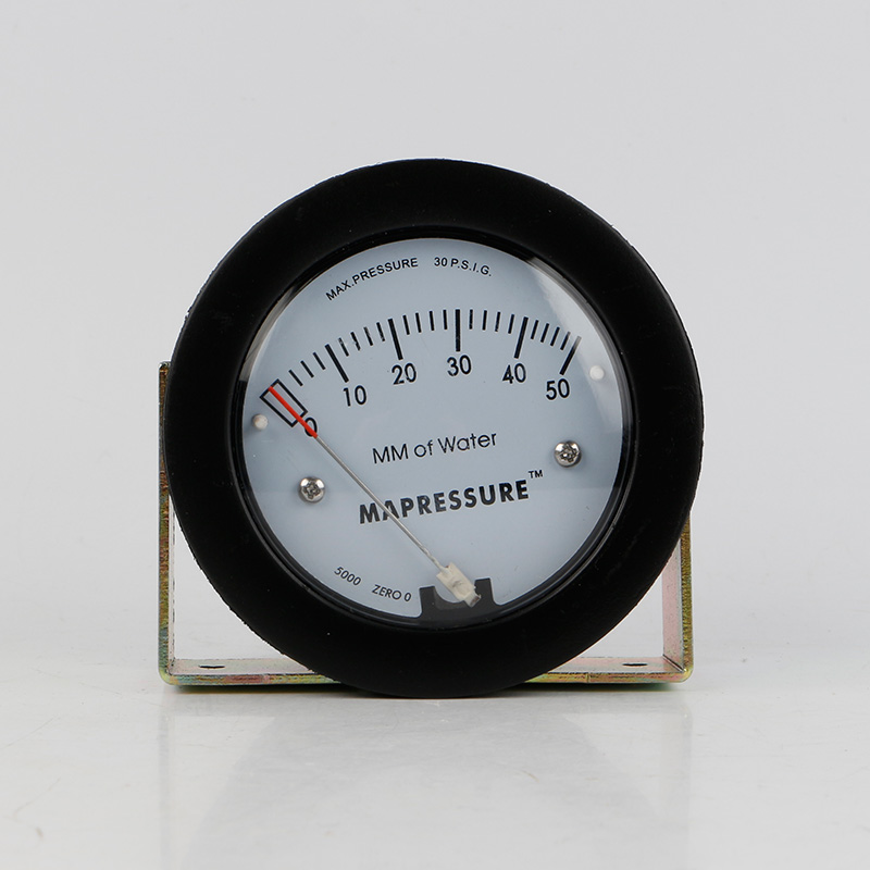 TE5000 0-50mm Mini Size Air Differential Pressure Gauge