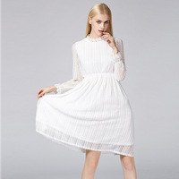 Collection Princess Fan Romantic Elegant Hollow Out Big Pendulum Lace Long Sleeve Cultivate One S Morality