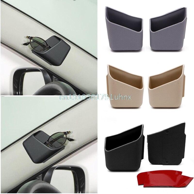 1 Paar Grau Universal Auto Auto Zubehör Gläser Organizer Storage Box Halter