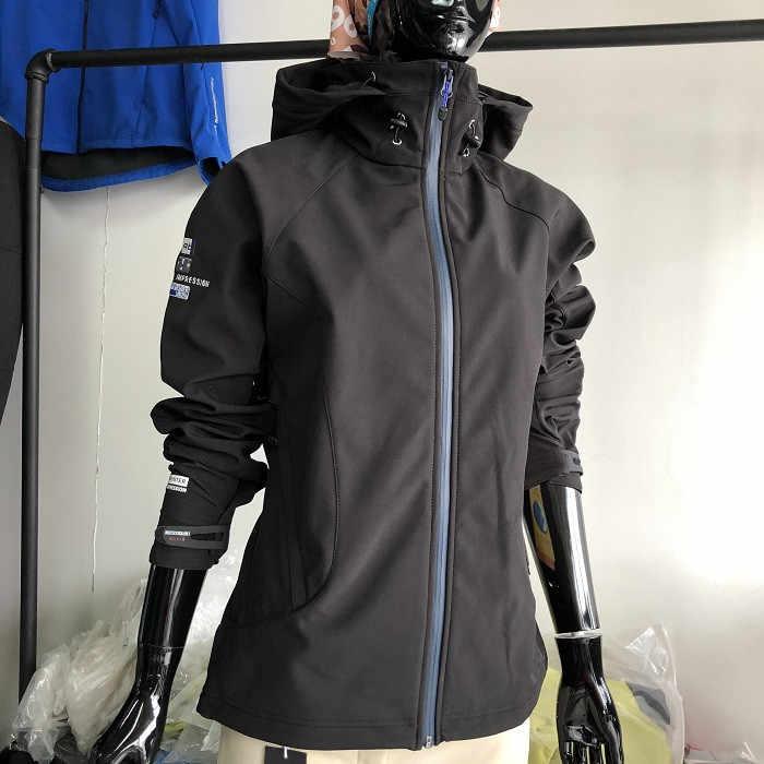 女性防風防水丈夫屋外スポーツウェアキャンプ乗馬サイクリングソフトシェルフリースコート