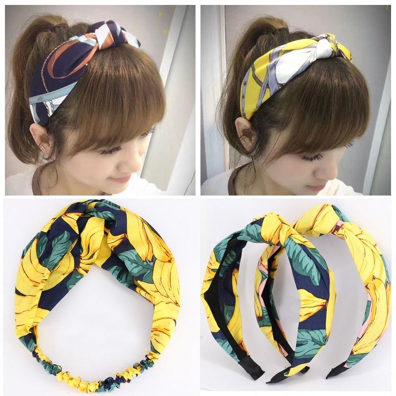 1Pc New Fashion Fabric Hairbands for Women Cotton Elastic Sport Headband Hair Accessories   Headwear   Girls Headdress Headpiece Hot