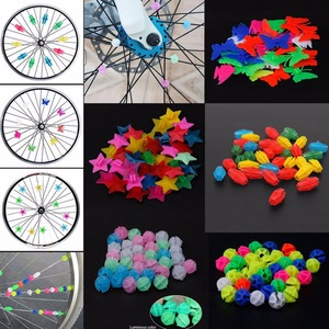 New Arrival Bicycle Spoke Beads Bicycle Wheel Plastic Multi Colored Spoke Beads Children Kids Clip Decoration Bicycle Parts(China)
