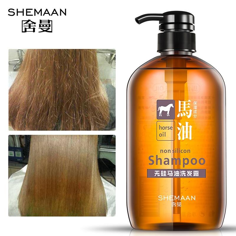 Daralis 600 ml aceite caballo pelo champú reparación de daños contra cabello perdido fragancia champú Anti caspa de aceite Control cabello cuidado
