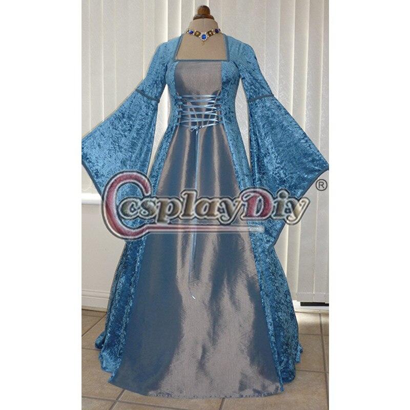 Renaissance Medieval Wedding Dress Adult Women s Dance Party Ball Gowns Custom Made D0827