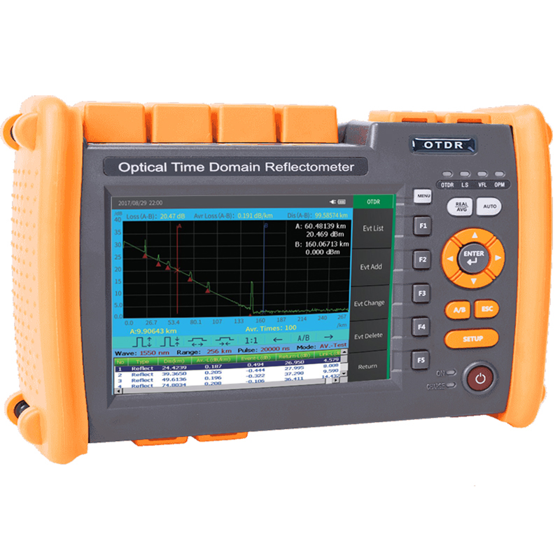 2020 New PRO Fiber Optic OTDR Reflectometer With OPM OLS VFL OLT Functions, Report Printed, Touch Screen, FC SC ST Connectors