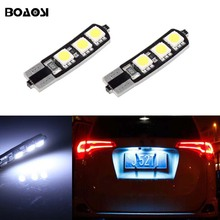 BOAOSI 2x T10 W5W LED Car Canbus bulbs t10 socket lamp license plate light for Opel Adam Corsa C Corsa C Combo Corsa D Astra H
