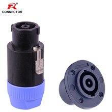 1set 8pins Speak Connector Speaker NL8 Loudspeaker Amplifier Adapter speak Male Plug&Female Jack