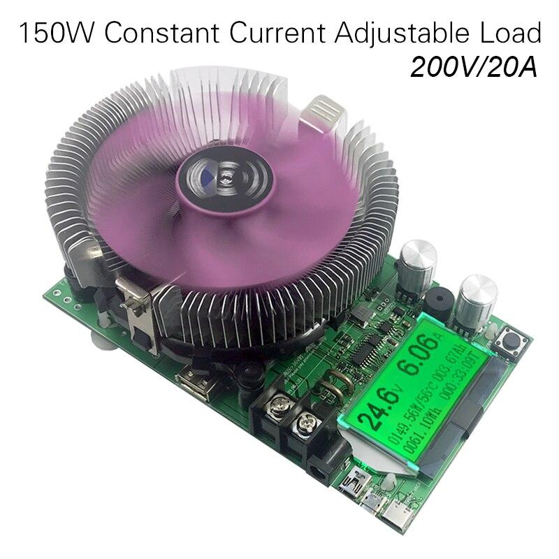 150 w/180 w DC Numérique voltmètre Courant Constant de Charge Électronique 200 v 20A ameter Décharge compteur de voiture batterie capacité volt Testeur