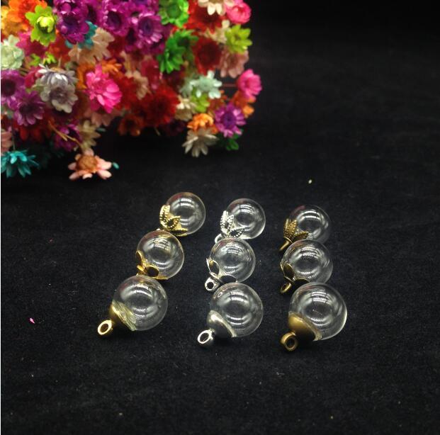 100 ensemble/lot 8mm (ouverture 3mm) verre huile essentielle dôme Globe verre bulle 6mm bouchon clair boule de verre charmes bricolage pendentif résultats