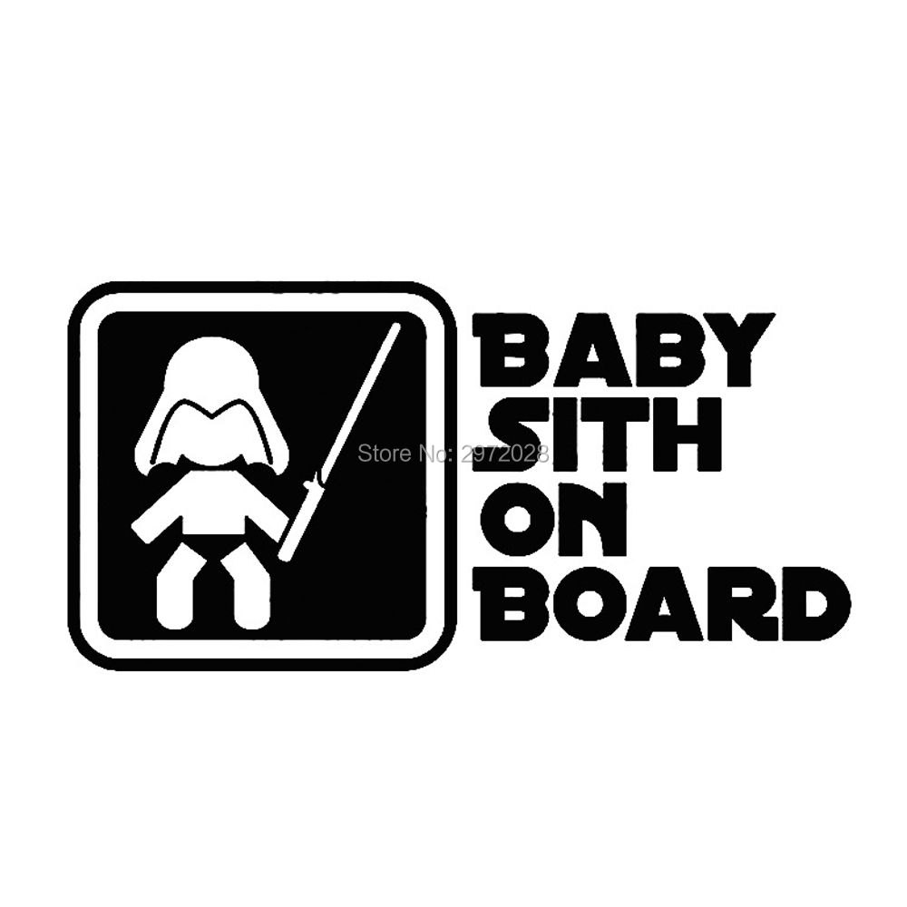 Hot Selling Creative Cartoon Classical Film Star Wars Car Styling Baby Sith on Board Car Windows Rear Windshield Stickers Decal image