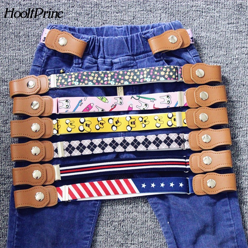 2019 Hot New Children Elastic Belt Pants For Girls  Boys Anti Deduction Belt Baby Nursery Essential 16 Colour Kid's Jeans Belt