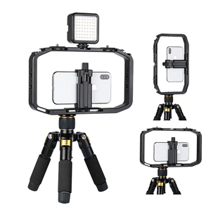 Image 2 - Ulanzi M rig All in 1 Aluminium Handheld Vlog Stabilizer Setup Video Rig w Microphone Cold Shoe Mount for iPhone Fillmakers