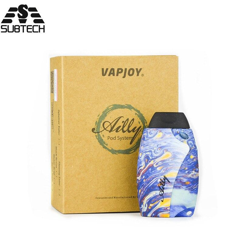 Kit de dosette d'origine VAPJOY AILLY avec batterie de 800 mah construite vaporisateur de Cigarette électronique pour 0.4ohm SS31 Kit de stylo de vape de Cigarette électronique