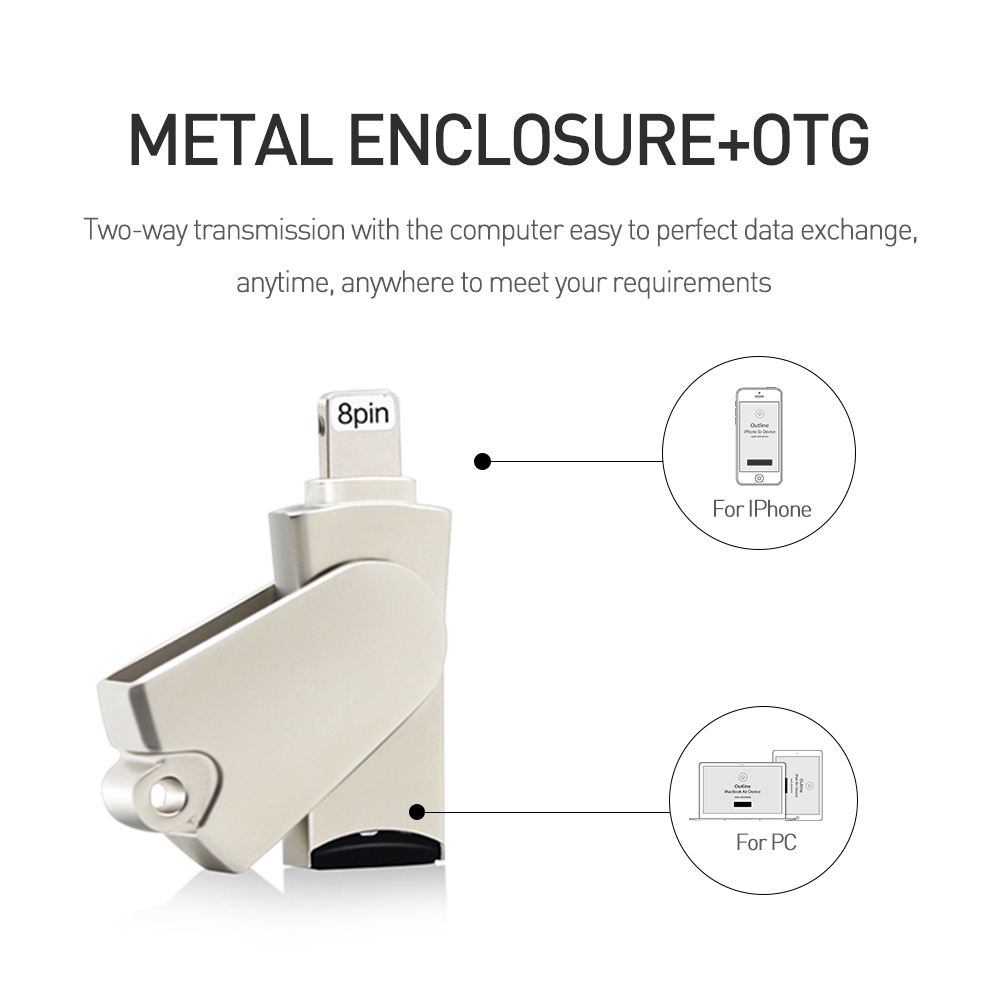 Dr.Memory Metal Micro SD Card Reader For iPad/iPhone 5SE 6S 7plus Memory Card Reader OTG TF Card Reader Fo