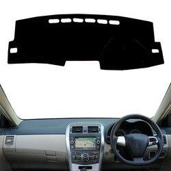 Dla Toyota Corolla Axio Fielder 2007 2008 2009 2010 2012 pokrywa deski rozdzielczej samochodu Pad Mat parasol przeciwsłoneczny Instrument dywan akcesoria RHD w Listwy wewnętrzne od Samochody i motocykle na