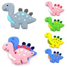 Baby Teether Silicone Animal Dinosaur Shape Baby Teethers Toddler Toy Teething Chew Accessories(China)