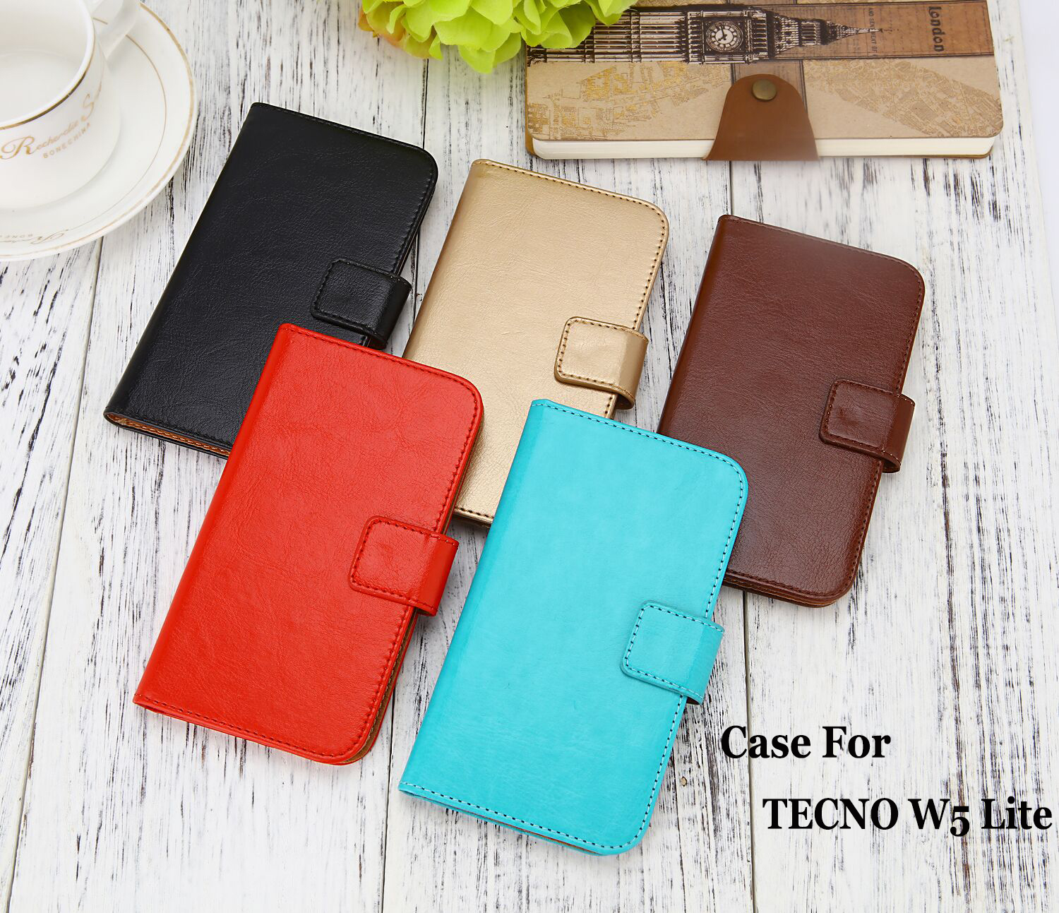 US $4 69 6% OFF Case For TECNO W5 Lite case high quality Pure Color Luxury  Flip Leather Fashion Case Mobile Phone Bag-in Flip Cases from Cellphones &