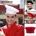 Hot working cap checkedout chef hat kitchen restaurant cook cap high quality different colors