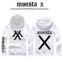 2017 stars goods Sweatshirts MONSTA X Hoodie fleeces coat long sleeve Hoody