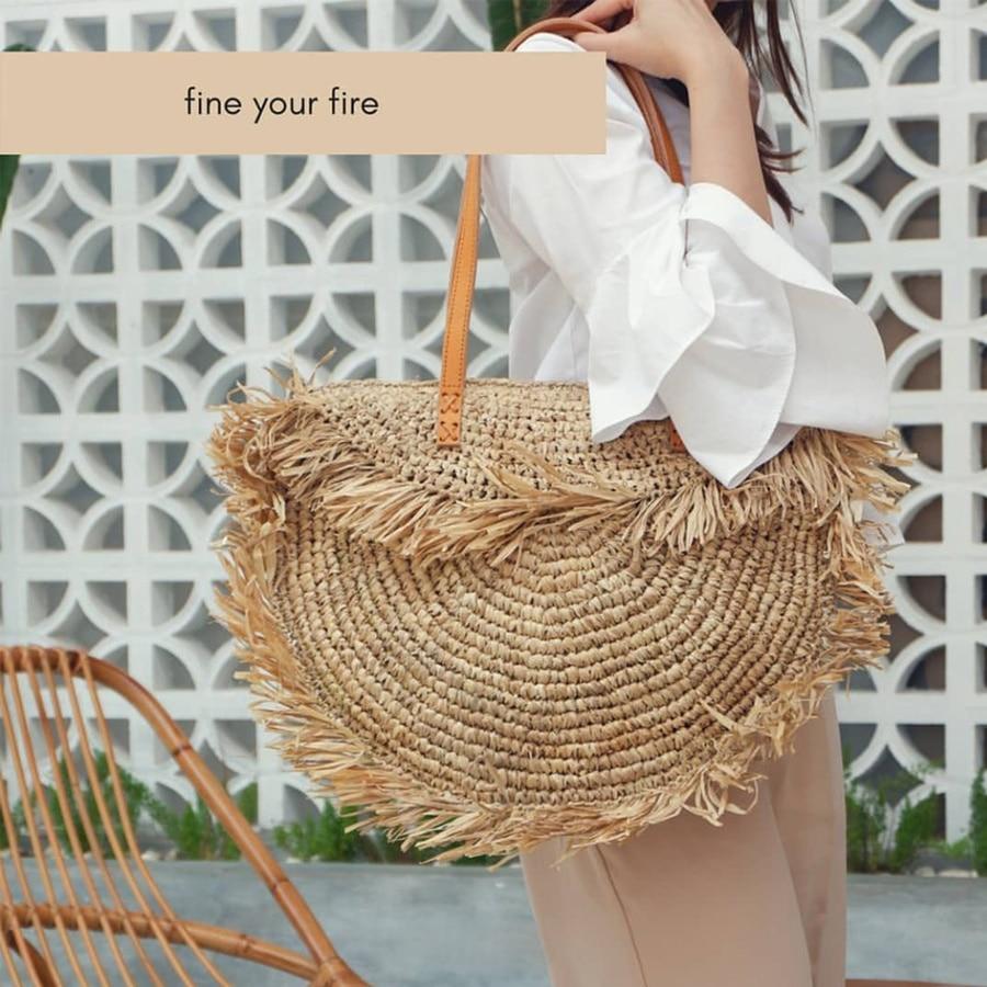 Bohème rond gland femmes sac de paille concepteur Spike papier rotin sacs à bandoulière grande sacs à main décontractés été plage sacs à main tissés