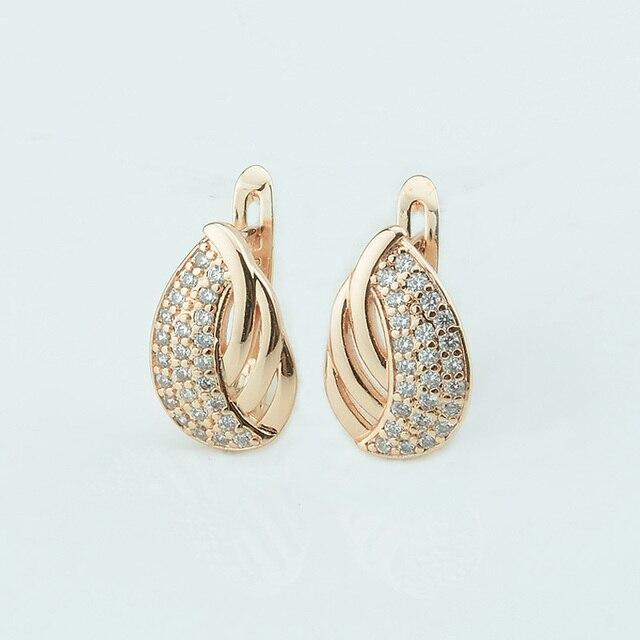 Fashion Jewelry Women 585 Gold Color Dangle Earrings Good Multi Crystal Weaving Oval Shaped