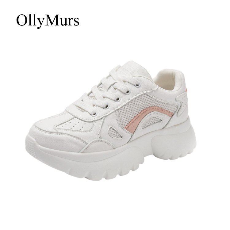 attaché Cuir Rose Chaussures Femmes Mesdames Véritable Mode Croix Mujer Patchwork Plate Marque blanc Printemps En Sneakers Zapatos forme De Casual Twq1U8dq