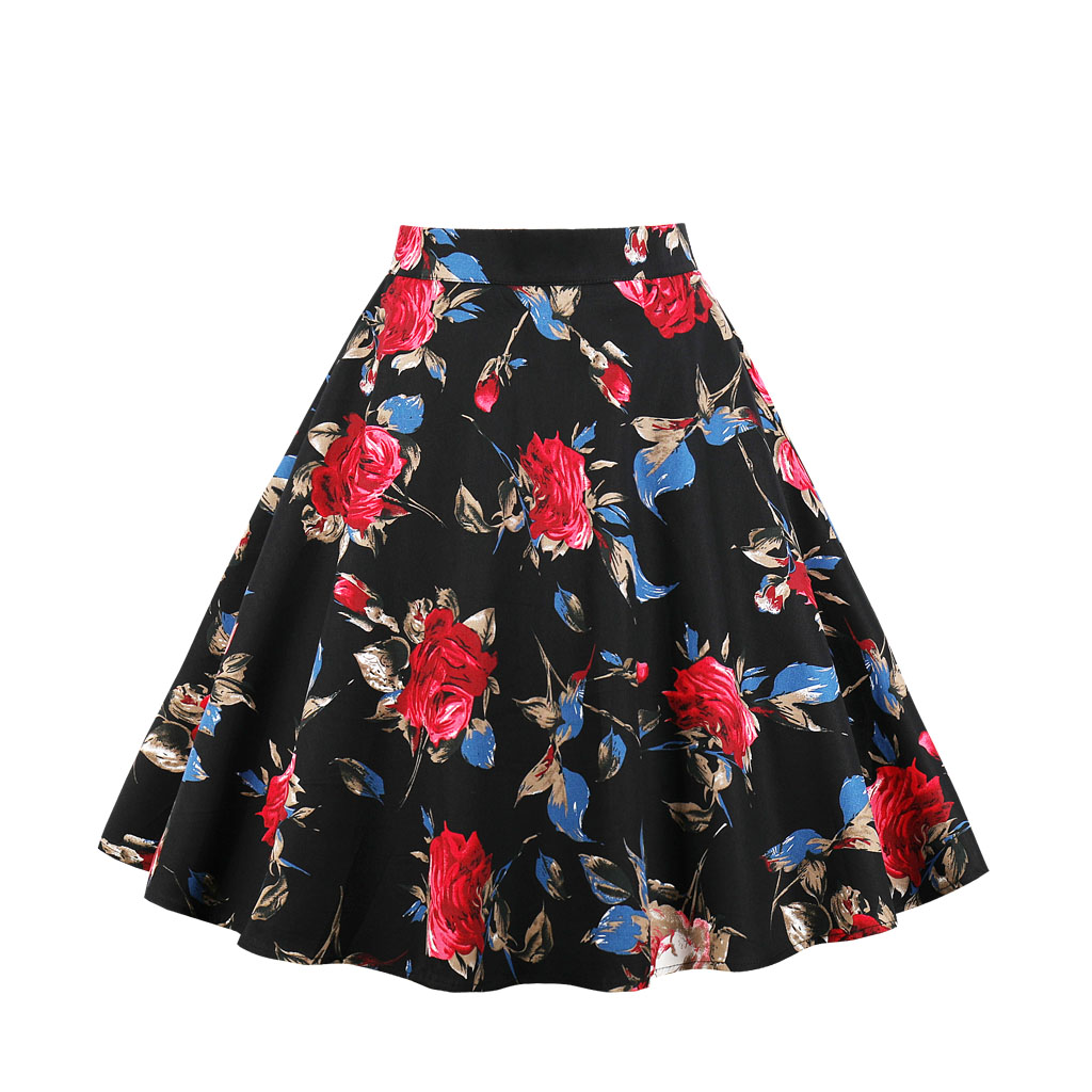 Detail Feedback Questions about Plus Size Vintage Skirt Wop loose Woman  Girls Print Retro Ball Gown Skirt Femininos Casual Sexy Swing Vestidos on  ... d9b8ca58abc2