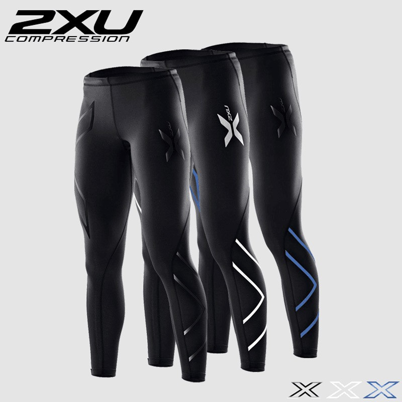 2XU Compression Pants Men Tight Long Sports Trousers Black Jogging Emoji Joggers Slim For Man Running GYM Pro