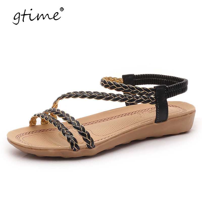 Popular Women Summer Shoes 2017 Hot Breathable Bohemia Sandals Women Fashion String Bead Women Shoes-in ...