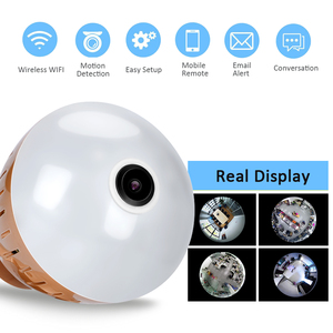 Image 2 - 1080P HD 2MP Panoramic Bulb Infrared and White Light Wireless IP Camera Wi FI FishEye Mini Lamp Wifi P2P Cam CCTV Home Security