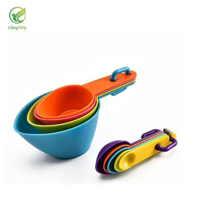 10Pcs//Set Kitchen Baking Bakery Cakes Cooking Plastic Measuring Cups /& Spoons
