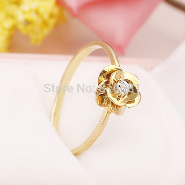 Natural Ring Diamond for Women Genuine 0.05CT SI / H Diamond Solid 18K Gold Wedding Bands Engagement Rings Flower Factory Direct hot sale couples wedding bands lock and key love solid 18k white gold diamond engagement ring wu141