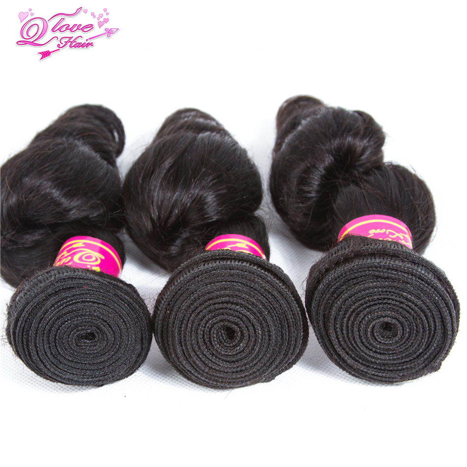 Queen Love Hair Malaysian Loose Wave Bundles Hair Malaysian Hair Weave Bundles 100% Human Hair Extension 3 Bundles Free Shipping