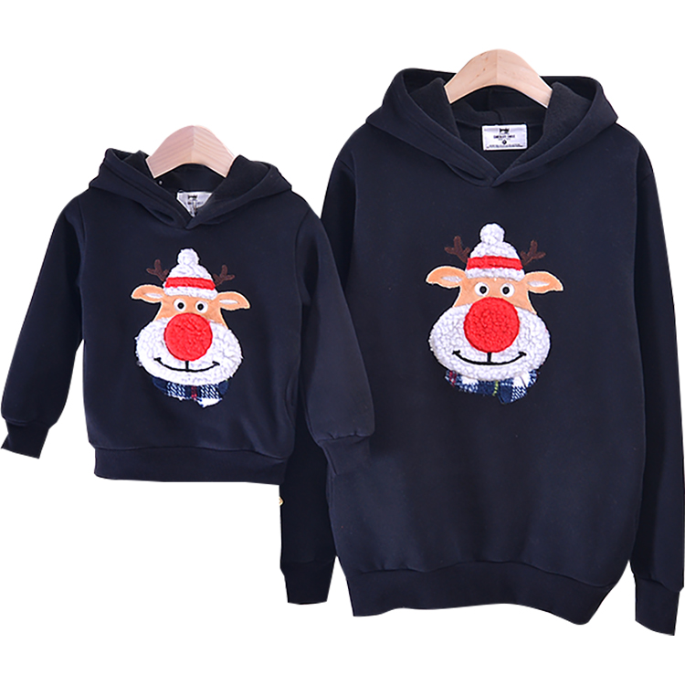 Family Clothing 2019 Autumn Winter Sweater Christmas Deer Children Clothes Kid shirts Polar Fleece Warm Family Matching Outfits цена 2017