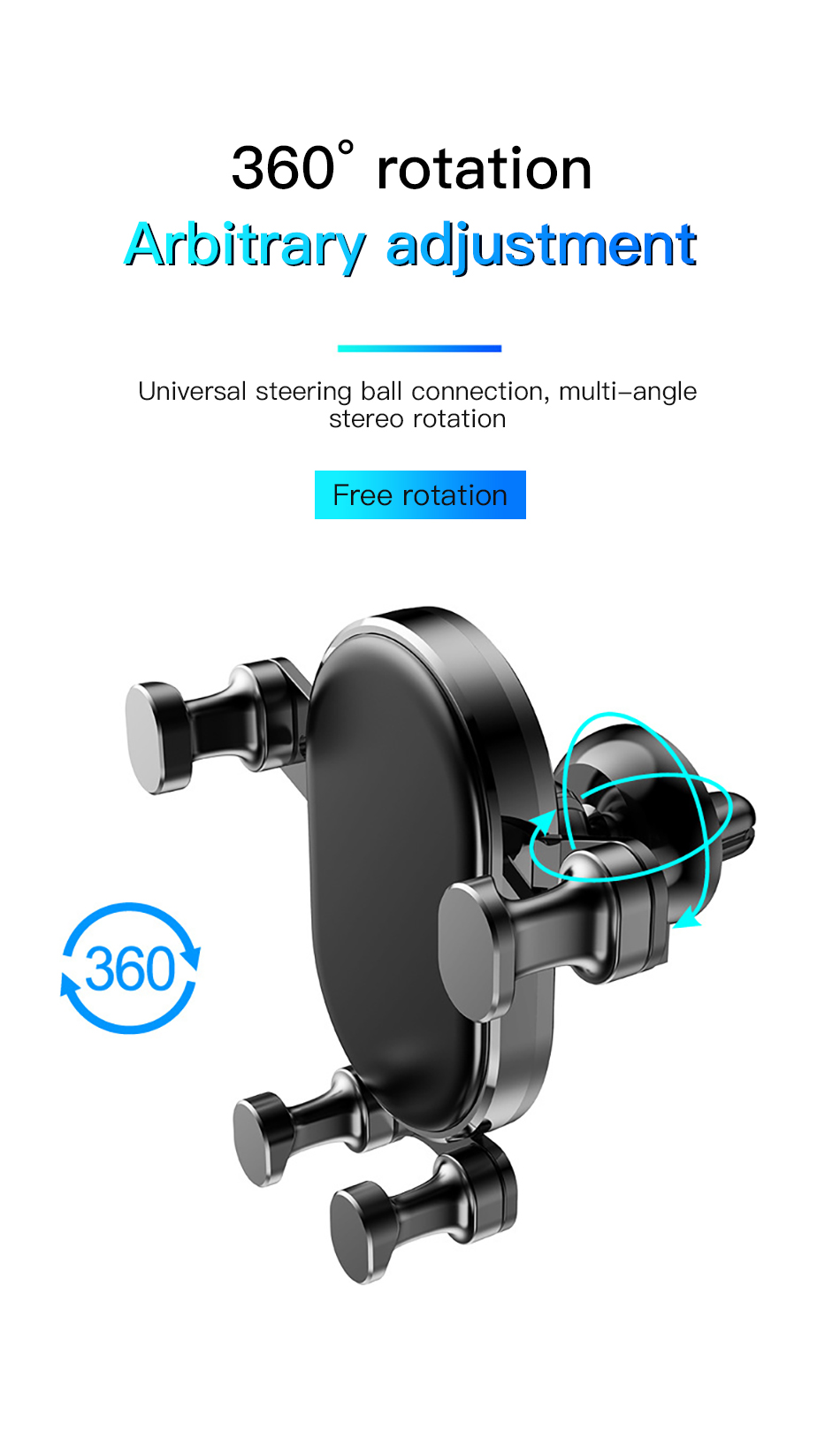 !ACCEZZ Gravity Car Phone Holder Air Vent Mount Mobile Phone Holder Universal For iphone XS MAX Xiaomi Mix 3 Bracket Support GPS (9)