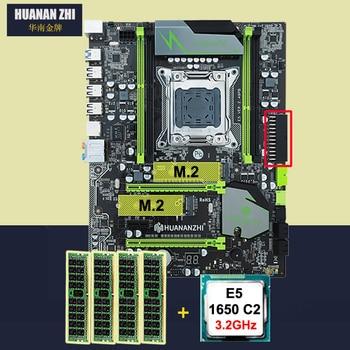 HUANAN ZHI X79 motherboard 와 dual M.2 슬롯 discount motherboard bundle 1.6g 의 CPU Intel 제온 E5 1650 3.2 GHz RAM 16G (4*4G) DDR3 RECC