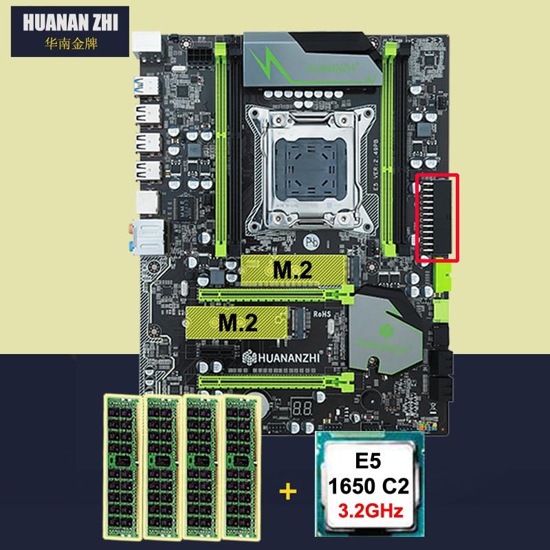 HUANAN ZHI X79 placa base con doble M.2 ranura descuento placa base bundle CPU Intel Xeon E5 1650 de 3,2 GHz RAM 16G (4*4G) DDR3 RECC
