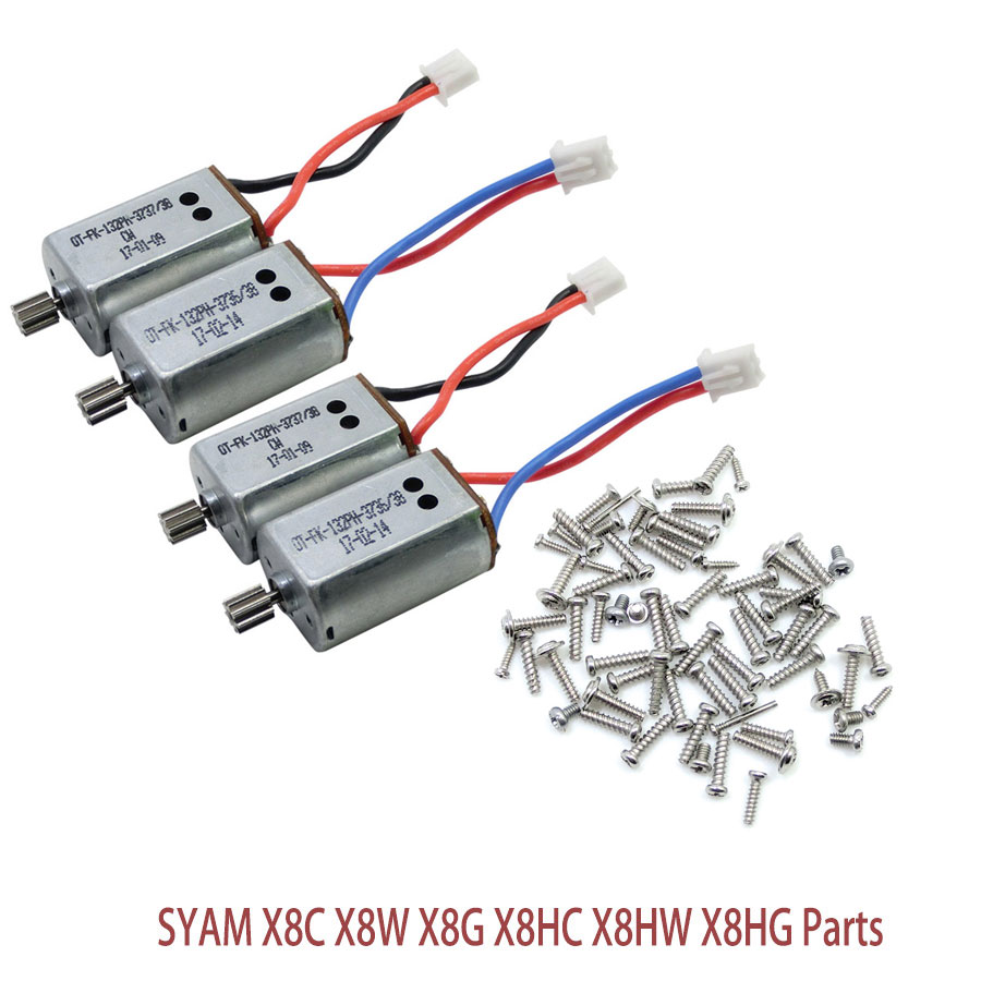SYMA X8C X8G Main Motor CW CCW And Full Set Screw Kits For SYMA X8W X8HC X8HW X8HG X8 RC Drone Helicopter Quadcopter Parts