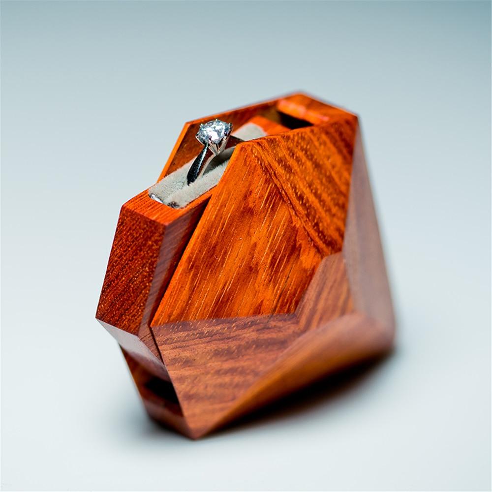 Коробка для свадебного кольца высокого качества, ручная работа, на заказ, коробка для ювелирных изделий Boite A Bijoux Boite Cadeau Sieraden Doos, коробка для