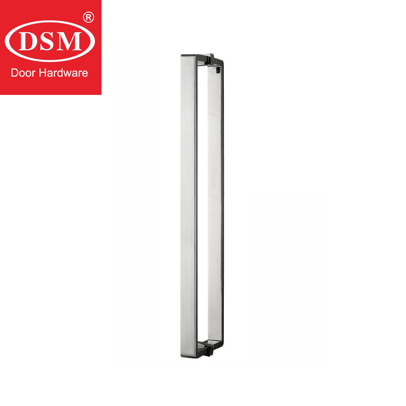 Shower Door Handle 304 Grade Stainless Steel Pull Handles For Bathroom Glass Doors PA-646-25*10*460mm 304 grade stainless steel black pull handle entrance door handles for wooden glass metal doors pa 135 38 800mm