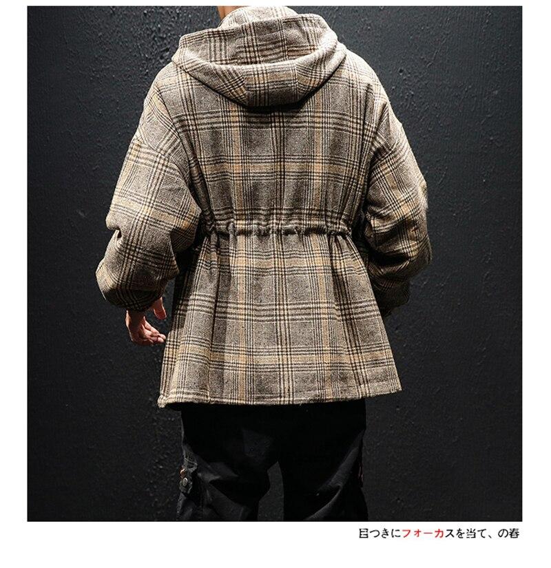 Korean Trench Coat Men Overcoat Hood Slim Fit (17)