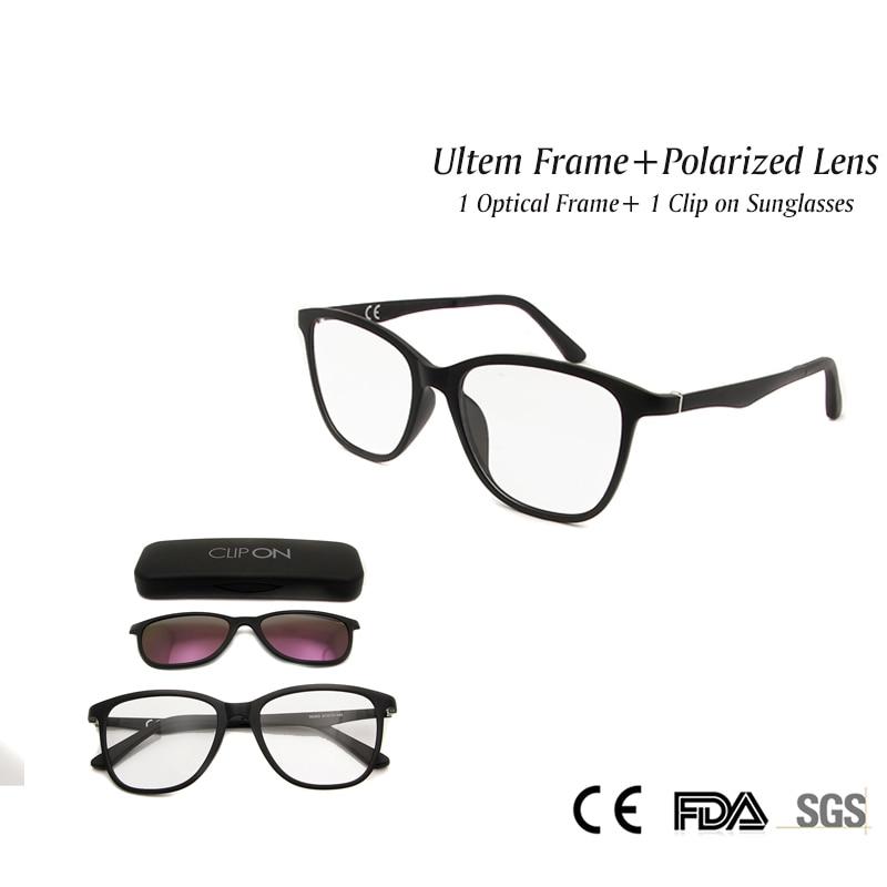 0ca47eee4c Fashion Women Magnetic Clip On Sunglasses With Ultem Flexible Light Optical  Frame Polarized Lens Myopia Glasses Goggles