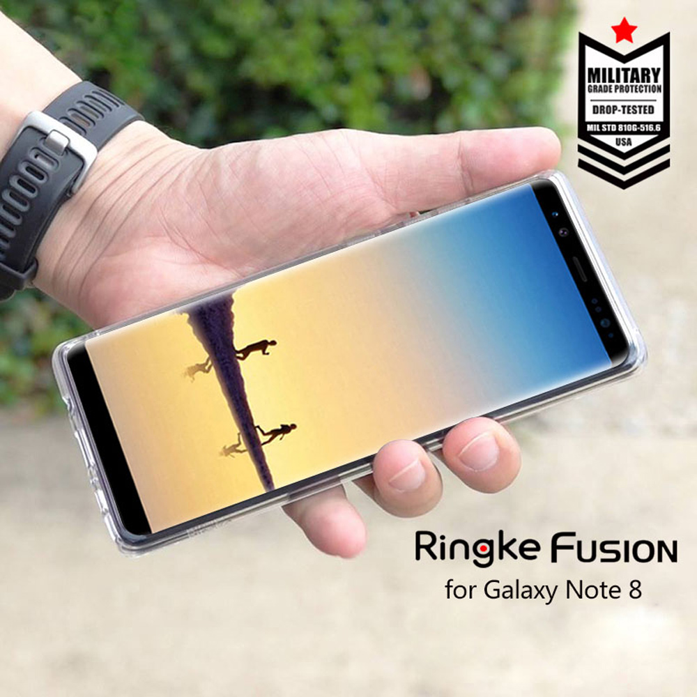 Ringke Fusion For Samsung Galaxy Note 8 Case Silicone Flexible Tpu And Transparent Hard PC Back